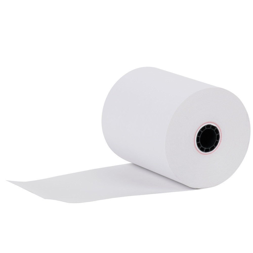 "3-1/8"" x 230 (50 Rolls) Thermal Paper 3"" diameter Cash Register Rolls BPA Free Made in USA From BuyRegisterRolls."