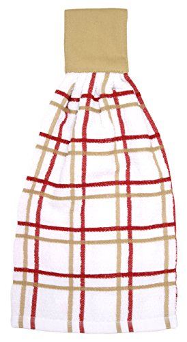 Ritz Kitchen Wears Multi Check Tie Towel, Biscotti (Tie On Dish Towels compare prices)