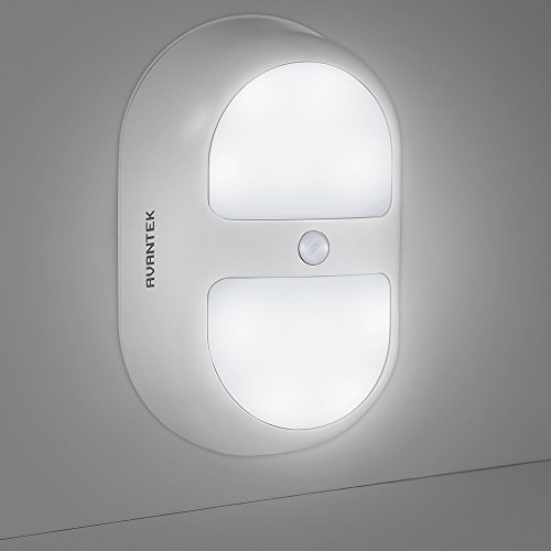 AVANTEK Night Light - Motion Activated Battery Operated Wall Lights with 10 LED and Dual Sensor ...