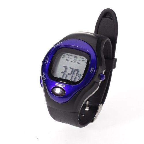 LCD Quick Touch Technology ECG Strapless Heart Rate Monitor Calorie Calculator Pulse Watch - Blue