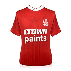 John Barnes Signed Liverpool FC Soccer Jersey by exclusivememorabilia.com