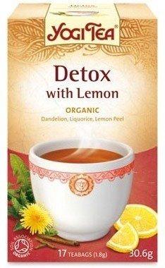 Yogi Tea Organic Detox With Lemon 17 Teabags