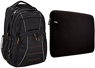 AmazonBasics Laptop Backpack and Sleeve
