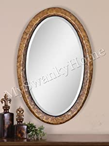 Large Oval Capiz Wall Mirror Beach Island Sea Shell Vanity