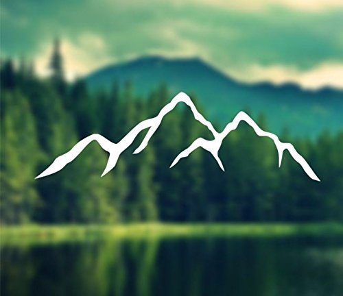 Decal - Mountains Silhouette - Car Decal, Laptop Decal, Macbook Decal, Ipad Decal (3