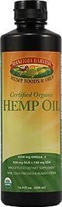 Manitoba Harvest Certified Organic Hemp Oil - 16.9 Fl Oz, 2 Pack