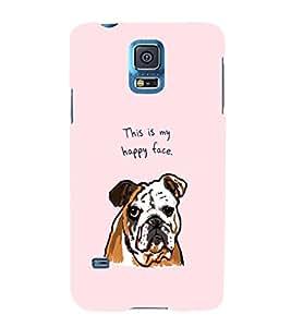 EPICCASE Happy Bulldog Mobile Back Case Cover For Samsung Galaxy S5 (Designer Case)