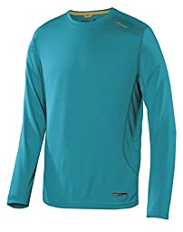 Terramar Sports Men\'s Microcool Long Sleeve Crew S Lagoon