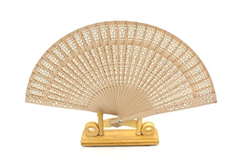 La Tartelette Sandalwood Folding Fan (Set of 12 Pcs) (Sandalwood Folding Fan compare prices)