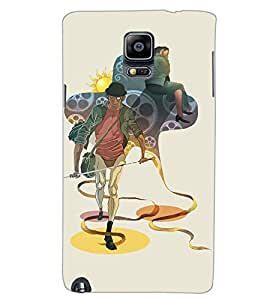 SAMSUNG GALAXY NOTE 3 SWORD MAN Back Cover by PRINTSWAG