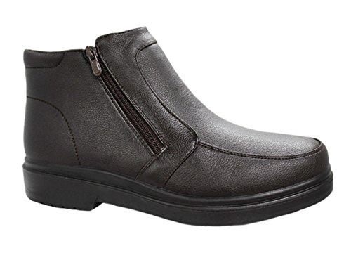 Scarpe Stivaletti uomo testa di moro casual sneakers invernali con pelliccia numero 40 41 42 43 44 45 (44, Testa di moro)