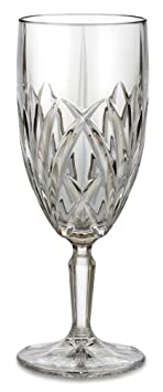 Marquis by Waterford Brookside 12-Ounce Footed Iced-Beverage Goblets, Set of 4
