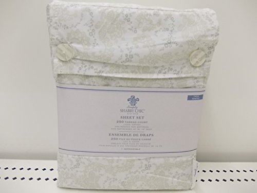Simply Shabby Chic Sheet Set, Floral Stitch, Full/Double (Shabby Chic Sheets compare prices)