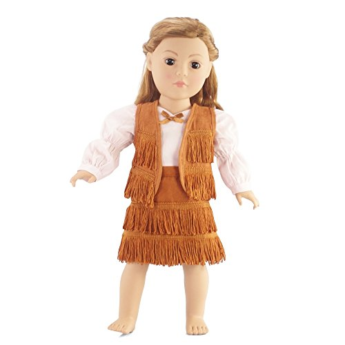 "18 Inch Dolls Clothes/clothing Fits American Girl - Cowgirl Outfit Includes 18"" Doll Accessories"