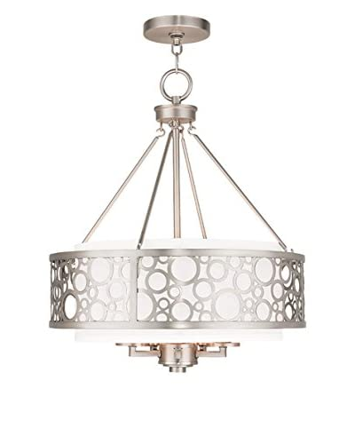Crestwood Ava Chandelier, Brushed Nickel