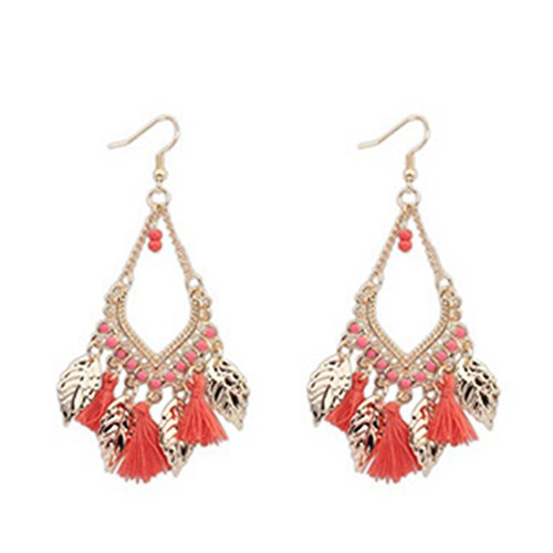 [Dasion Bohemian Ethnic Romantic Su Earrings Long Section Of European And American Metal Leaf] (Invisible Man Costume Diy)