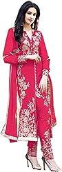 StarMart Beautiful Arjan Georgette Salwar Kameez Semi Stitched Suit -308 Pink