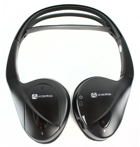 New Audiovox Ir1Cff Fold Flat Wireless Automotive Infrared Stereo Headphones. My Gn