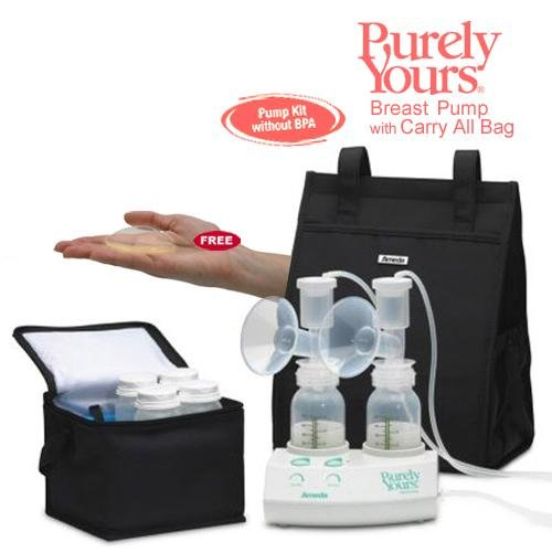 Ameda Purely Yours Breast Pump 2009 With Carry All Bag And Comfort Gel Hydrogel Soothing Breast Pads - Bpa Free front-564039