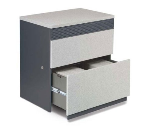 Granite and Graphite Two Drawer Lateral File Cabinet Classic Granite Collection by Bestar Office Fur