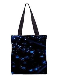 Snoogg Stars And Circles Poly Canvas Tote Bag