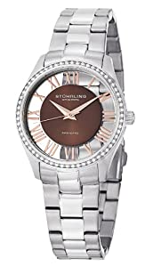 Stuhrling Original Women's 750L.02 Classic Ciara Analog Display Swiss Quartz Silver Watch