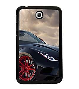 Black Sport Car 2D Hard Polycarbonate Designer Back Case Cover for Samsung Galaxy Tab 3 :: Samsung Galaxy Tab 2 P3200