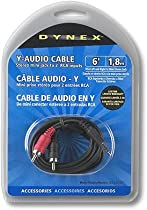 Dynex DX-C101671 - Audio cable - mini-phone stereo 3.5 mm (M) - RCA (M) - 6 ft