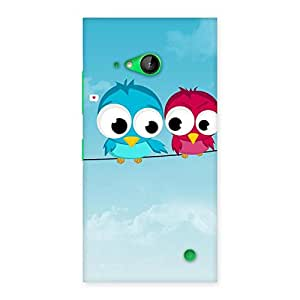 Special Birds on Wire Back Case Cover for Lumia 730