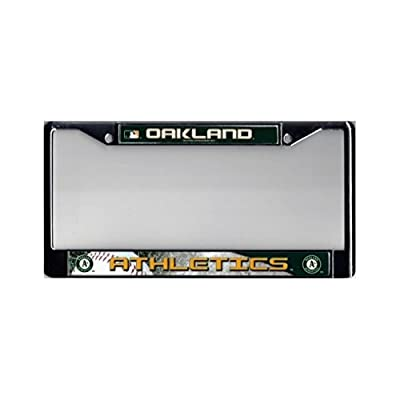 Oakland Athletics Official MLB 12 inch x 6 inch Chrome License Plate Frame by Rico Industries