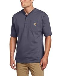 Carhartt Men\'s Big & Tall Workwear Pocket Short Sleeve Henley Original Fit K84,Bluestone,XX-Large Tall