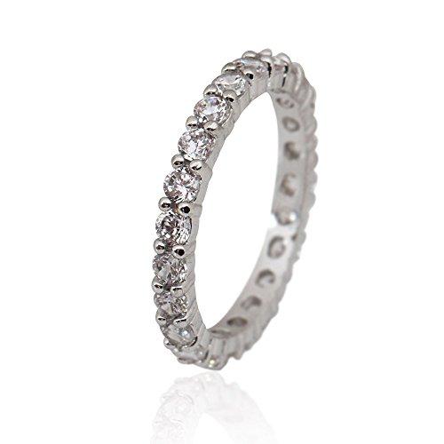 RISAcrystal(リサクリスタル) フルエタニティリング エタニティ リング 指輪 ホワイト【15号】