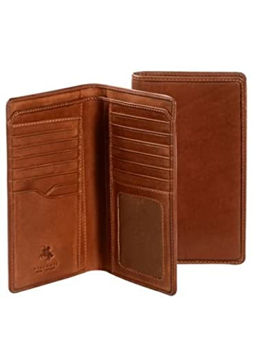 05. Visconti VICENZA VCN-20 Leather BIFOLD Tall Slim ID WALLET / Checkbook TRAVEL Wallet