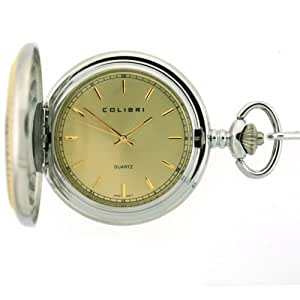 Amazon Com Colibri Pocket Watch Diamond Cut Bezel Wooden