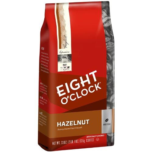 Eight O'Clock Hazelnut Whole Bean Coffee, 33-Ounce