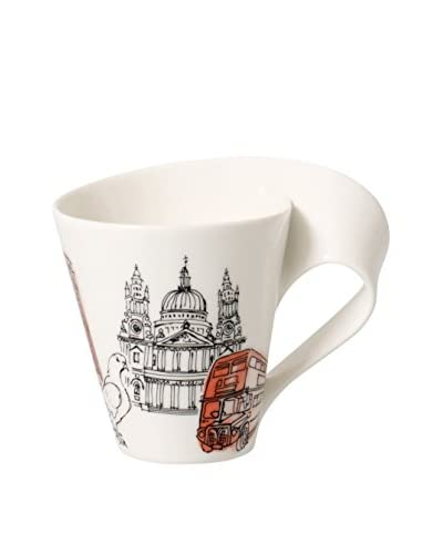 Villeroy & Boch NewWave Caffé 11.75-Oz. London Mug in Gift Box, Red/White