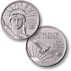 1/10 Ounce Platinum Eagle Coin