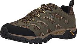 Merrell Men\'s Moab Waterproof Hiking Shoe, Olive, 13 M US