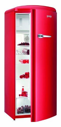 Gorenje RB60299ORD - frigos combines (Autonome, Rouge, Placé en haut, Droite, A++, SN, ST, T, Non)