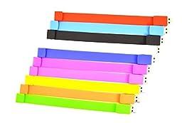FEBNISCTE 10 Pack 8GB Bracelet USB 2.0 Flash Drive Thumb Stick - 10 Color Assorted