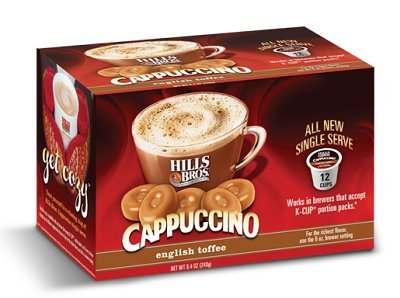 Hills Bros English Toffee Cappuccino Keurig K-Cups, 12 Count (K Cup Coffee Toffee compare prices)