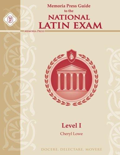 Memoria Press Guide to the National Latin Exam, Level I (Memoria Press Level A compare prices)