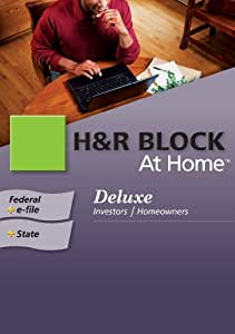 H&R Block At Home 2009 Deluxe Federal + State + eFile [Formerly TaxCut] [Download] [OLD VERSION]