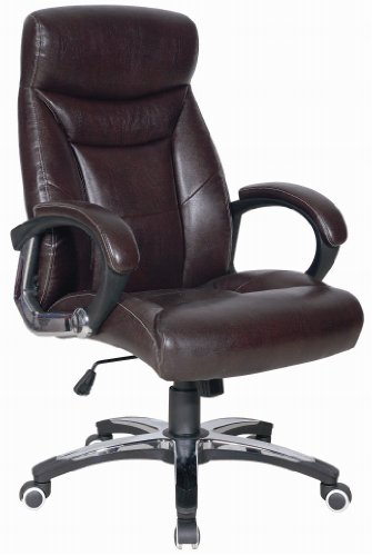 Luxury Dark Brown Director Office Chair with Folding Backrest
