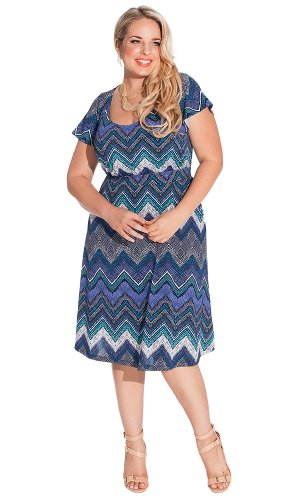 Igigi Women'S Plus Size Adora Dress In Cobalt 26/28