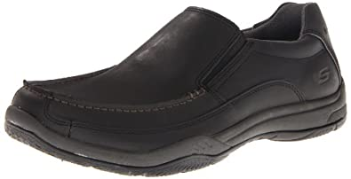 Skechers Men's Valko Niguel Slip-On,Black,6.5 M US
