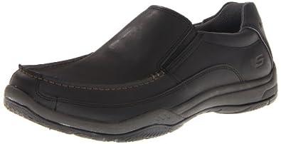 Skechers Men's Valko Niguel Slip-On,Black,7 M US