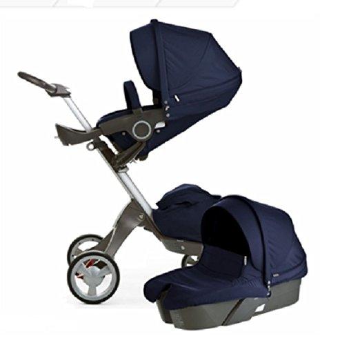 Stokke Xplory Newborn Stroller (Deep Blue) front-812873
