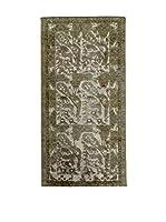 CarpeTrade Alfombra Deluxe Persian Vintage (Verde/Beige/Marrón)