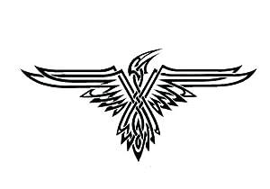Tribal falcon , Vinyl stickers, sticker , Deco , H = 25cm